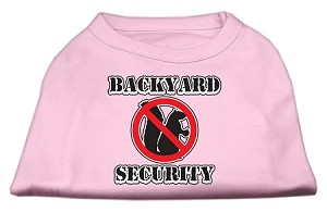 Backyard Security Screen Print Shirts Light Pink XL (16)